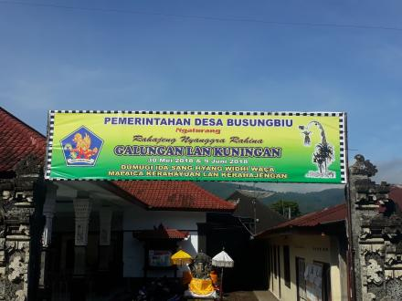 Pemerintah Desa Busungbiu Mengucapkan Rahajeng Nyanggra Rahina Galungan lan Kuningan