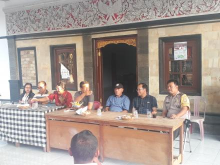 Rapat Kordinasi Persiapan Pembangunan Pasar Adat Desa Busungbiu